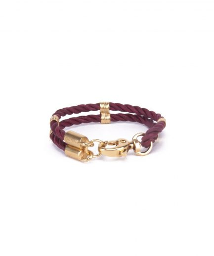 ANTIQUE RUBY LEATHER BRACELET-0