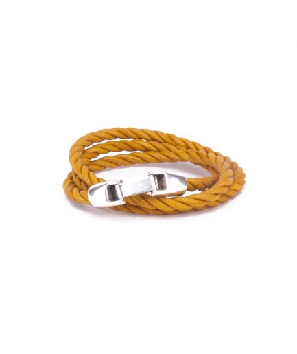 TOPAZ GOLD LEATHER BRACELET-0