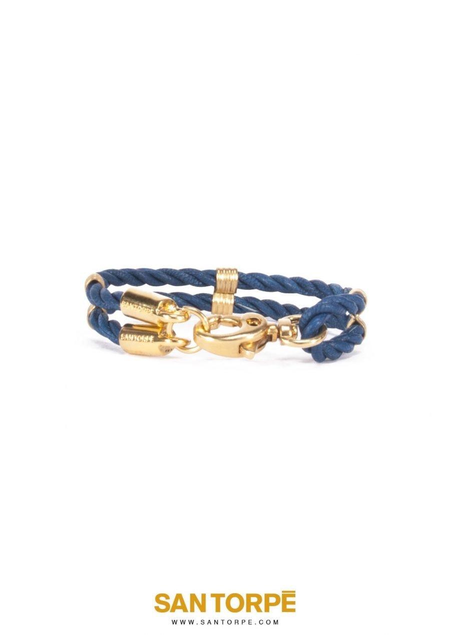CAPRI BLUE LEATHER BRACELET-0
