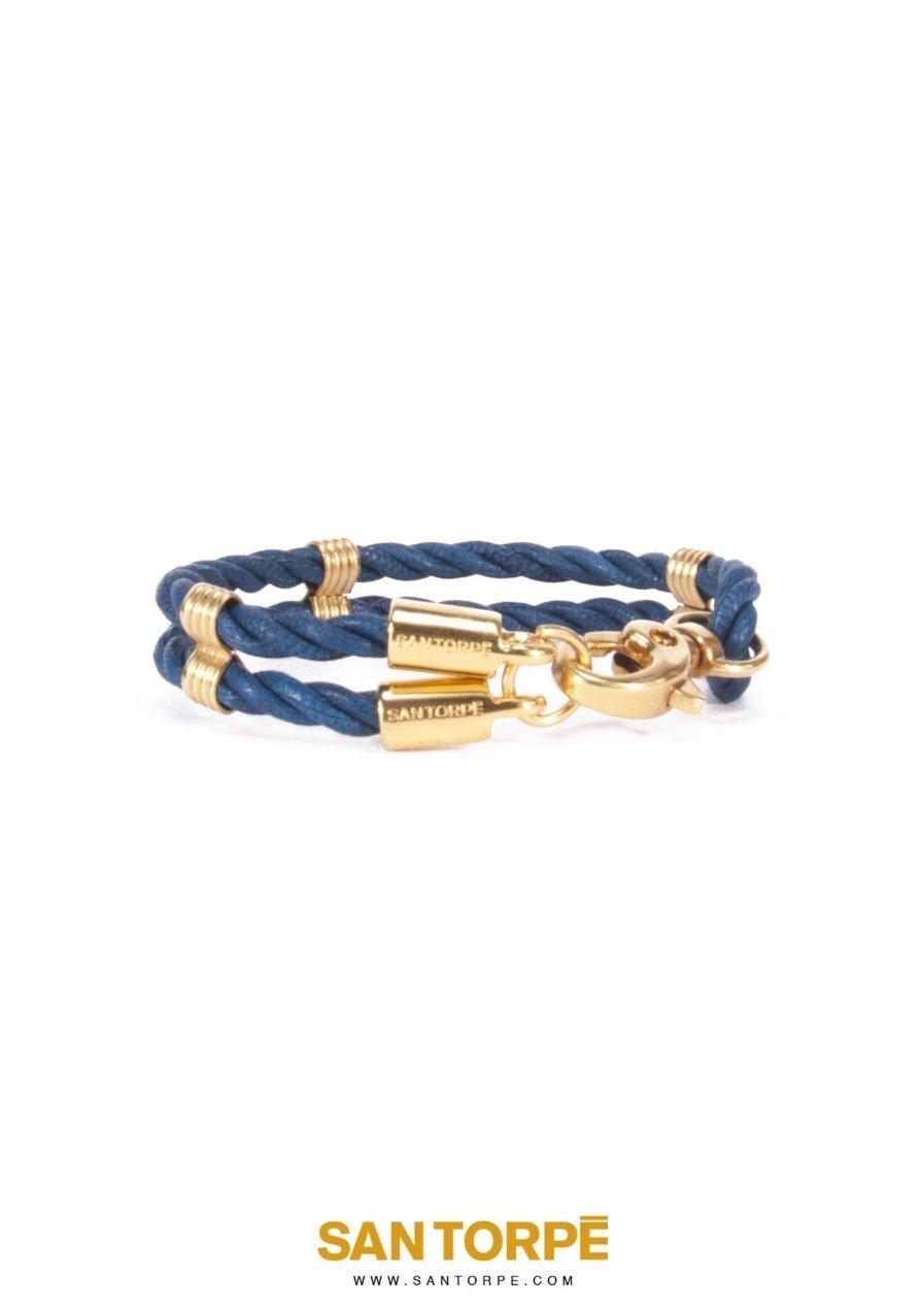 CAPRI BLUE LEATHER BRACELET-1264