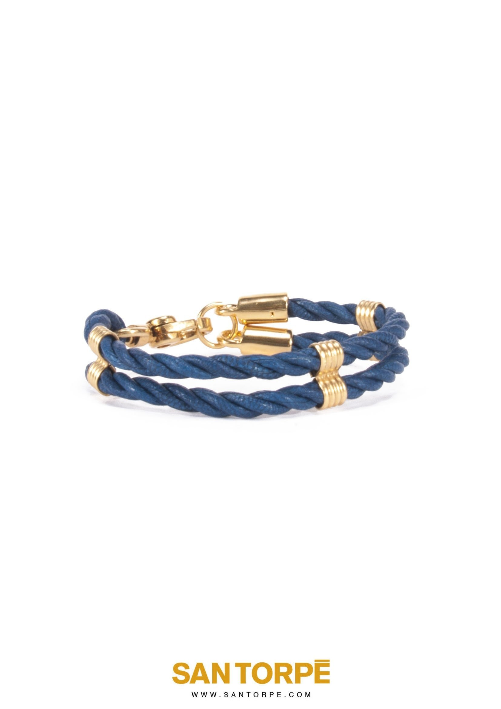 CAPRI BLUE LEATHER BRACELET-1265