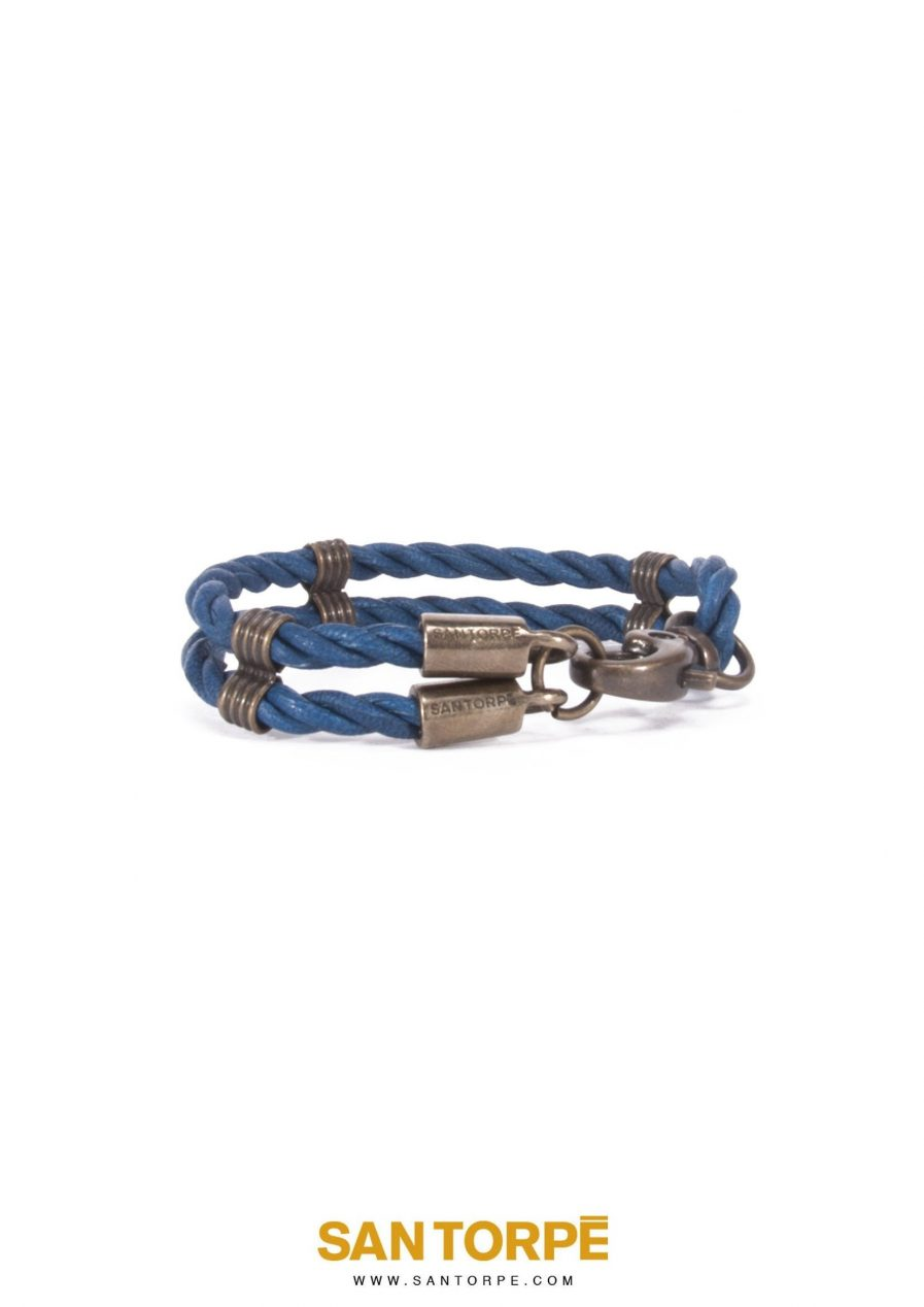 CAPRI BLUE LEATHER BRACELET-1259