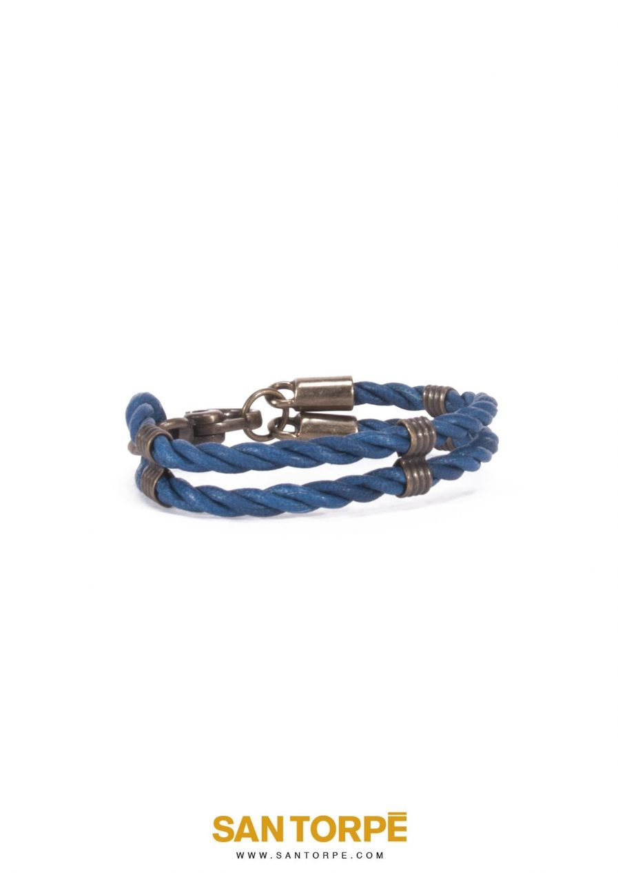 CAPRI BLUE LEATHER BRACELET-1260