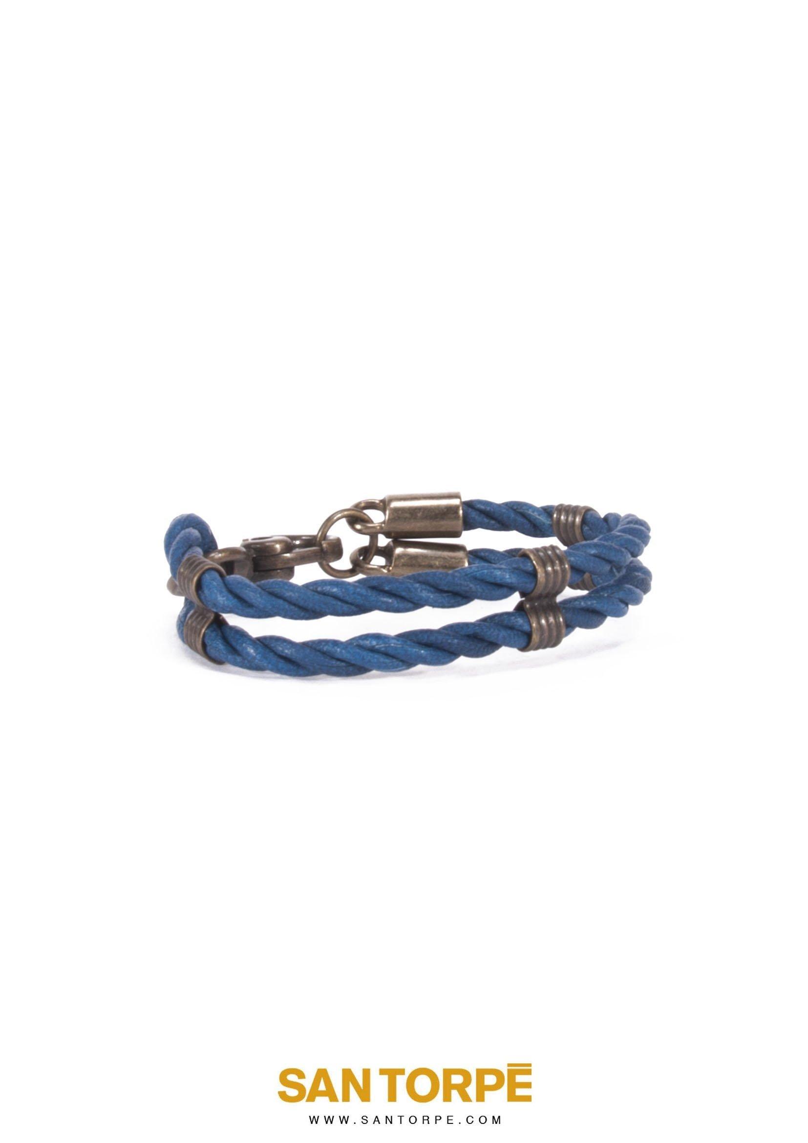 CAPRI BLUE LEATHER BRACELET-1260