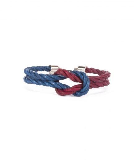 CAPRI BLUE / ANTIQUE RUBY LEATHER BRACELET-0