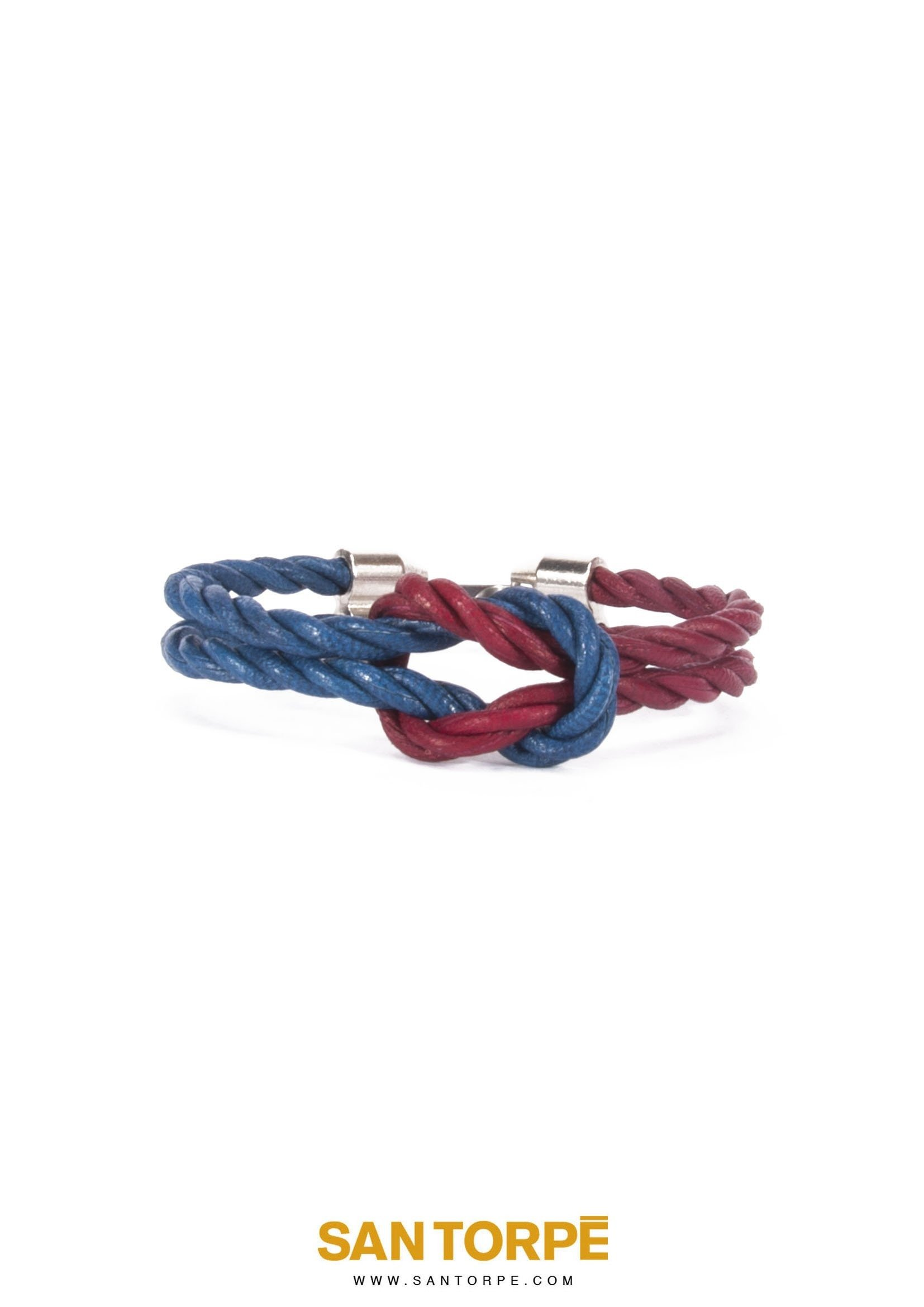 CAPRI BLUE / ANTIQUE RUBY LEATHER BRACELET-0