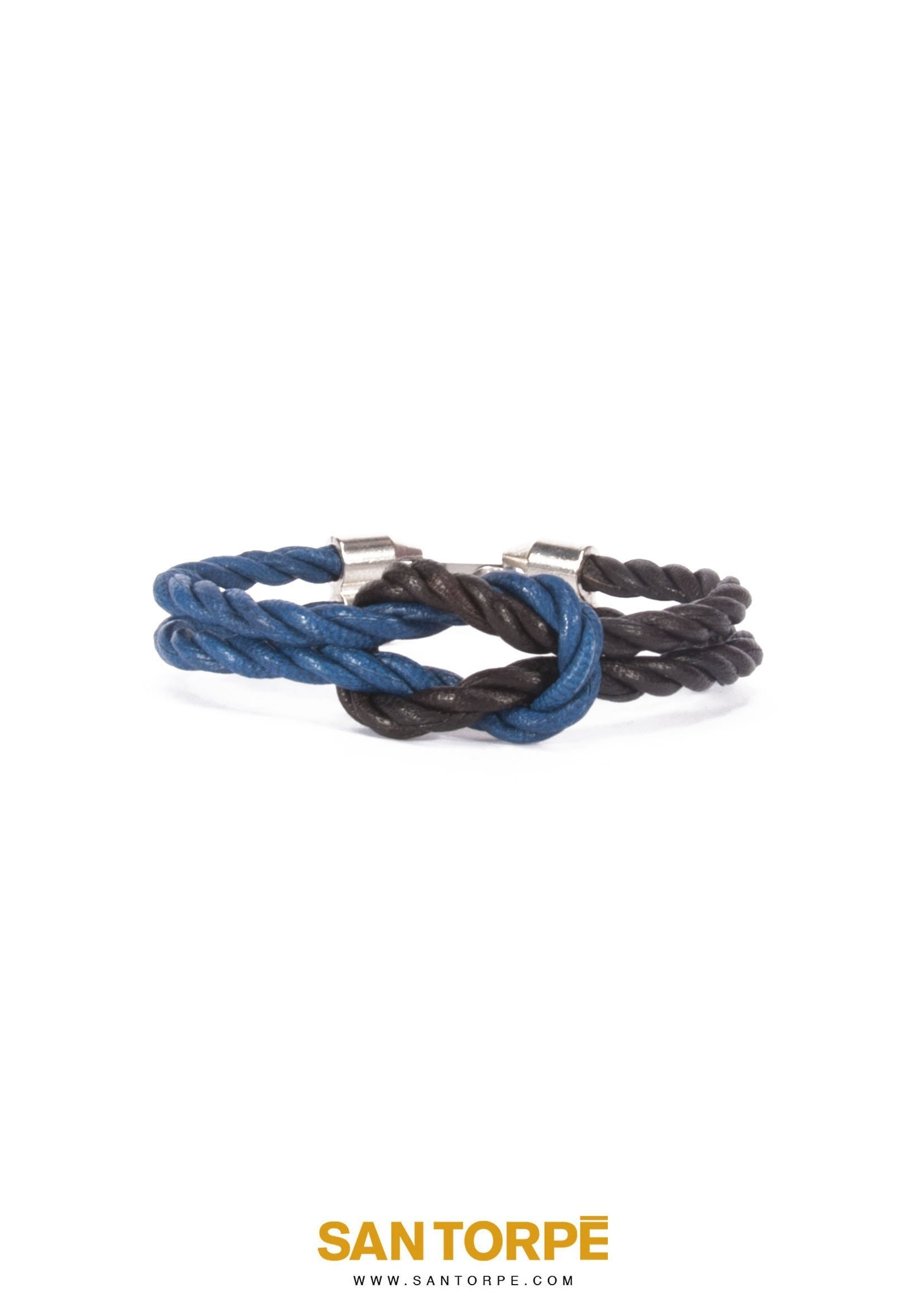 CAPRI BLUE / CHOCO BANG LEATHER BRACELET-0