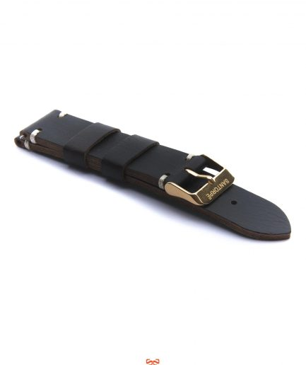 20mm COFFEE LEATHER STRAP-0