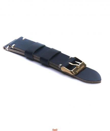 20mm NAVY LEATHER STRAP-0