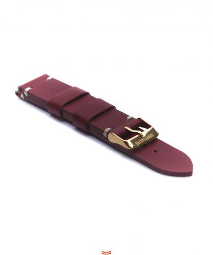 20mm RED LEATHER STRAP-0