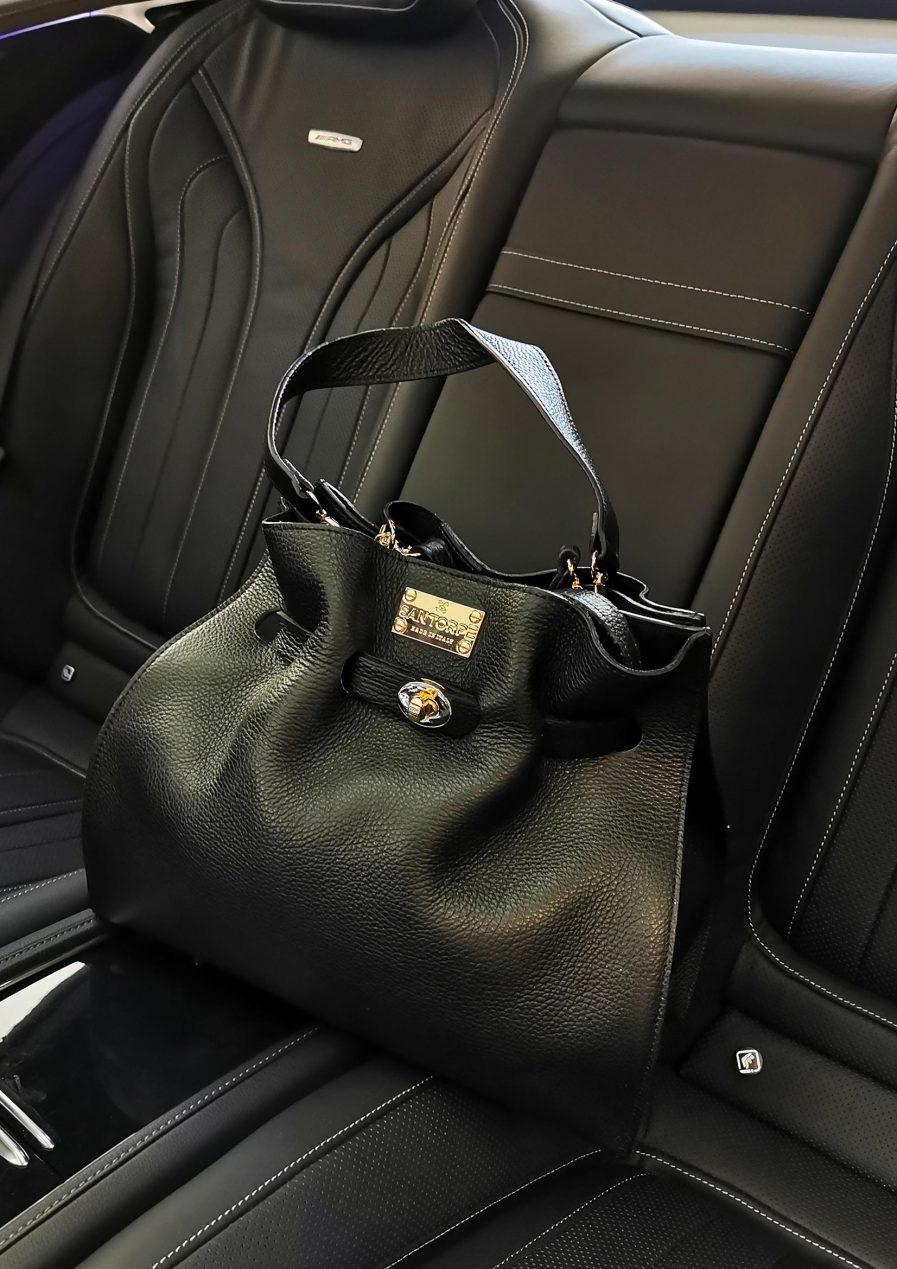 aria san torpe leather handbag